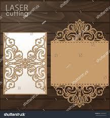 Laser Cut Invitation Cards Laser Cut Wedding Invitation Card Template Stock Vector 716698135
