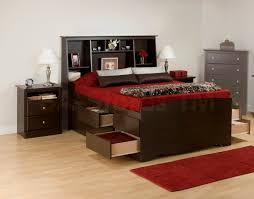 Bedroom Set With Storage Headboard Bedroom Sets Prepac 3 Pc Queen Size Bedroom Set Tall Bookcase