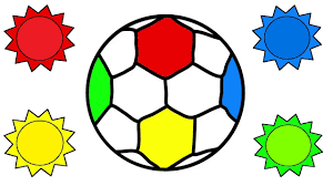 coloring pages soccer ball how to draw toys for kids learning
