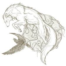 the wolf and the raven by eclipsesiren on deviantart