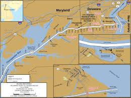 Intracoastal Waterway Map Intracoastal Waterway Delaware River To Chesapeake Bay De U0026 Md
