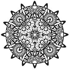 collection solutions printable psychedelic mandala coloring