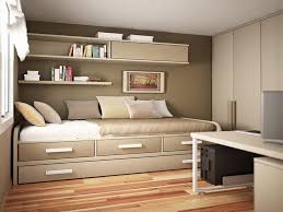 bedroom interior bedroom white solid wood single bed having