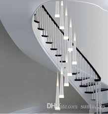 led strip lights for stairs 1 5 3 8m long led stair lighting bar cone spiral pendant l lights