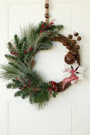 Rustic Reindeer Christmas Decorations by Rustic Christmas Wreath 25 Grapevine Reindeer Christmas
