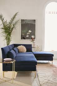 Blue Velvet Sectional Sofa Cecilia Velvet Sectional Sofa Outfitters And Interiors