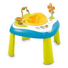 table d eveil avec siege table d activités smoby cotoons youpi baby bleu jeux d éveil