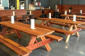 Indoor Picnic Table Tables U0026 Seating For Beergardens U0026 Food Courts Redwood Northwest