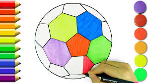 how to draw soccer ball sport toys coloring pages learn drawing
