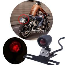 motorcycle license plate frame with led brake light black middle mount tail light license plate bracket light for harley