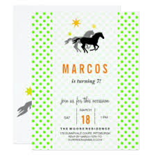 horse birthday invitations u0026 announcements zazzle