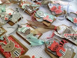 so there are a dozen of these little kraft cardstock tags each
