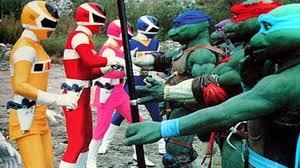 teenage mutant ninja turtles met power rangers den geek