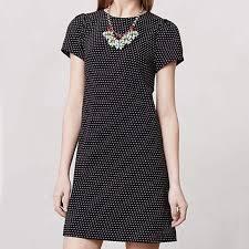 black shift dress anthropologie anthropologie maeve polka dot black shift dress