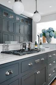 kitchens with gray cabinets gray cabinets with luce di luna quartzite transitional kitchen