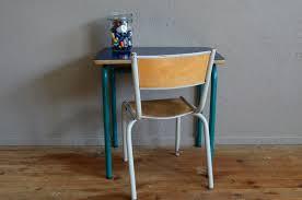 chaise d colier table et chaise d écolier bleu foncé 1960s en vente sur pamono