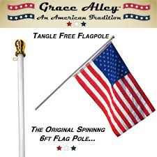 Flag Pole Repair Amazon Com Flag Pole Tangle Free Spinning Flagpole Residential