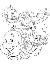 ariel coloring pages 2 coloring pages print
