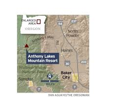 Oregon Lakes Map by Anthony Lakes Resort Opens As Early Present For Skiers In Eastern