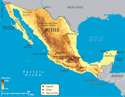 Mexico Political Map by Physical Map Of Central America Mexico And The Caribbean You Can