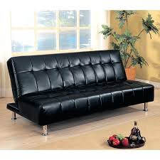 Black Faux Leather Sofa Armless Sofa Bed Black Faux Leather Sofa Bed Armless Sofa Bed