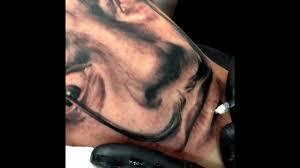 yomico moreno salvador dali tattoo youtube
