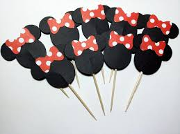 24 minnie mouse cupcake toppers minnie mouse cupcake picks