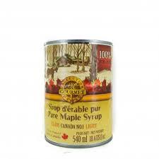 cuisine erable clair sirop d érable clair canada n 1 classe a en canne de 540 ml