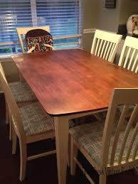 staining a table top general finishes gel stain in java for table top annie sloan chalk