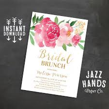 brunch invites printable bridal shower brunch invitation wedding shower invites