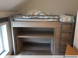 lit superpose bureau lit superposé avec bureau et garde robe a vendre 2ememain be