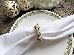 easter napkin rings napkin rings pastel pink blue green berries wicker