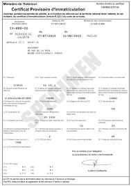bureau des immatriculations carte grise qu est ce que le certificat provisoire d