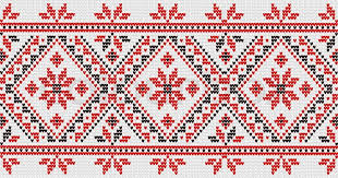 flower ornament in the ukrainian style stock vector colourbox
