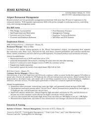 Restaurant Resume Examples by Resume Examples For Restaurant General Manager Virtren Com
