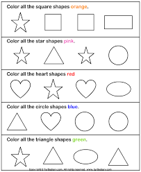 math shapes worksheet preschool on shape preschool worksheet color