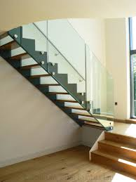 Glass Banister Uk Bespoke Staircase Guildford With Glass Balustrade