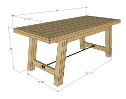 Outdoor Table Plans Free by Ana White Benchright Farmhouse Table Diy Projects