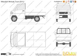 mitsubishi minicab van the blueprints com vector drawing mitsubishi minicab truck
