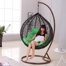 ideas bedroom indoor free standing hammock chair stand for rattan