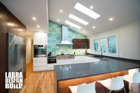 mid century modern walnut kitchen cabinets labra design build modern kitchen remodel franklin michigan