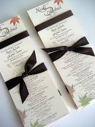 fall wedding programs fall wedding program templates the wedding specialiststhe