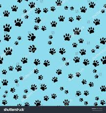 seamless pattern dogs paws print vector stock vector 251120038
