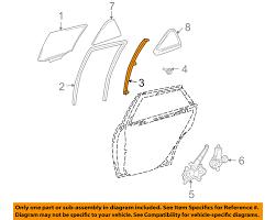 lexus rx330 tampa lexus toyota oem 07 09 rx350 glass rear door division bar left