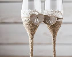 wedding glasses rustic wedding glasses toasting glasses rustic toasting flutes