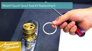how to replace the spout seal kit for your reliant faucet youtube