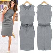 casual dress 2015 summer women sports casual dress crop cozy solid slim high