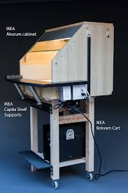 old ikea desk models model spray booth from ikea parts model workbenches pinterest