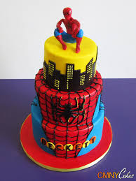 beckett spiderman cake cmny cakes