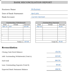 Balance Sheet Reconciliation Template Bank Reconciliation Statements